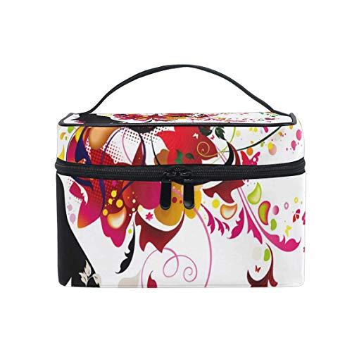 Rose Fairy Girl Floral Cosmetic Bag Toiletry Travel Makeup Case Poignée Pouch Multi-Function Organizer pour Les Femmes