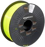 Amazon Basics - Filamento para impresora 3D, ácido poliláctico (PLA), 1.75 mm, cinta de 1 kg, amarillo neón