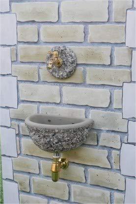 Fontane a muro Adige- Évier 40 x 30 x 20 H cm - Rosace diamètre 20 x 3 cm