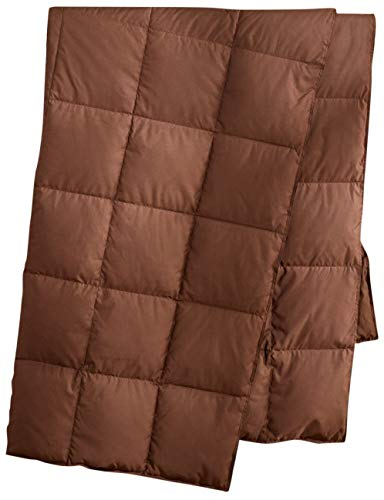 puredown Natural Down Packable Throw Sport Blanket for Indoor Home and Outdoor use Peach Skin Fabric for Downproof Chocolate 50'x70', Duck