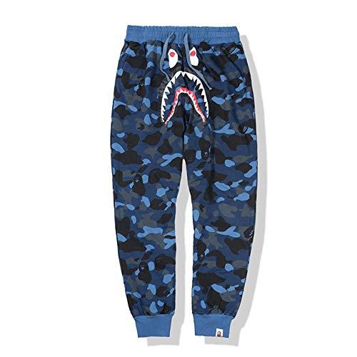 ZCVB Pantalones de chándal Casuales para Hombre de Bape, Pantalones Deportivos Largos, Suaves y Transpirables-Azul_XXL