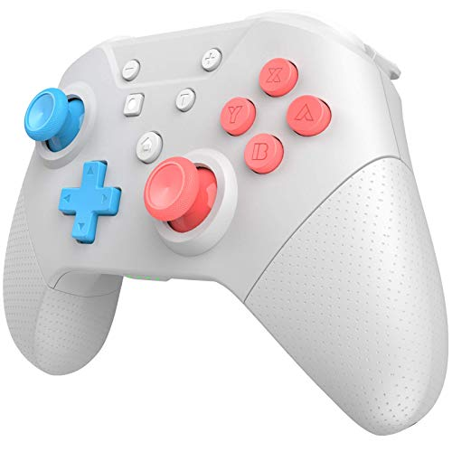 Wireless Pro Controller for Switch/Switch Lite with Wake Up, NFC, Turbo, Gyro Axis, Dual Shock, Pro Controllers Compatible Nintendo Switch/Switch Lite/PC (Light Gray)