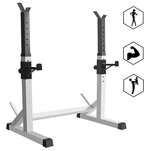Soporte para sentadillas, barra de prensa, altura ajustable, para entrenamiento en casa, gimnasio