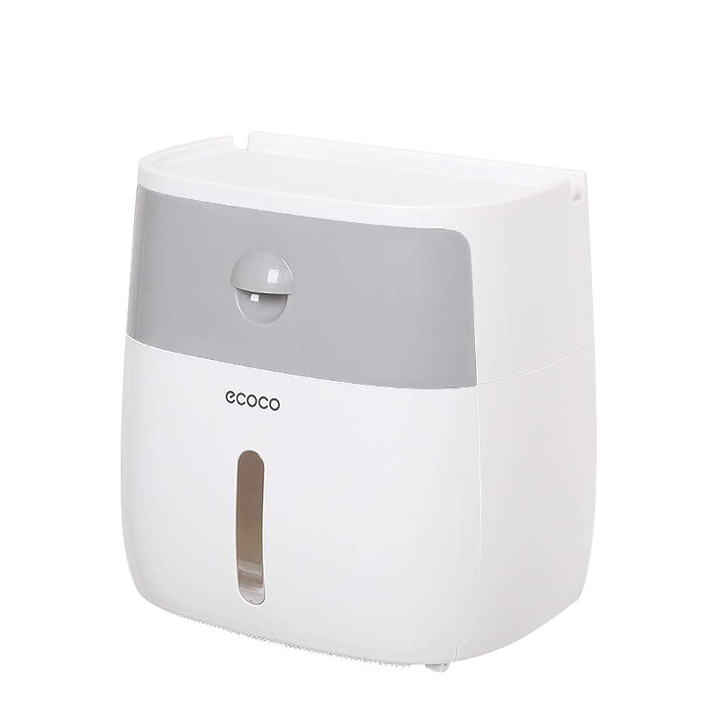 愛情肩をすくめるステープルティッシュボックス、トイレティッシュボックス、浴室用防水トレイ、パンチフリー装置ラック SHWSM
