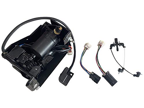 Air Suspension Compressor With Bracket - Air Bag Suspension System - Replaces 15254590, 19299545, 15296756 - Compatible with Cadillac, Chevy and GMC SUVs - Escalade, Avalanche, Suburban, Tahoe, Yukon