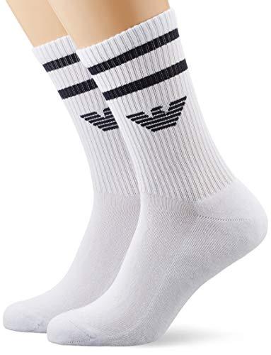 Emporio Armani Underwear Herren Sponge Cotton Short Socken, Weiß (Bianco 00010), One Size (Herstellergröße: TU)