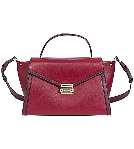 """100% Leather - Silver Tone Hardware Dimensions: 14""""W x 8-1/2""""H x 5-3/4""""D Adjustable Strap: 17""""-19"""". Handle Drop: 4"""" Interior: Front Slip Pocket, Back Zip Pocket, Back Slip Pocket, Push-Lock fastener"""
