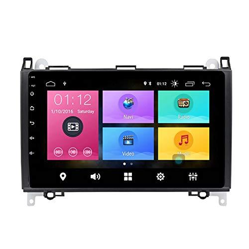 Autoradio Android Doppio Din per Mercedes-Benz Classe A Classe B W169 W245 Viano Vito W639 W906 Navigazione GPS Touch screen da 9 pollici MP5 Lettore multimediale Ricevitore video radio