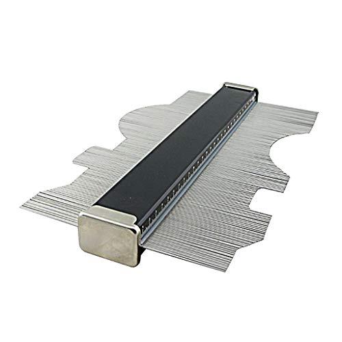 Almencla Medidor de Perfil de Duplicador de Copia de Contorno de 6 Pulgadas / 150 Mm - Regla de Marcado de Madera para Baldosas
