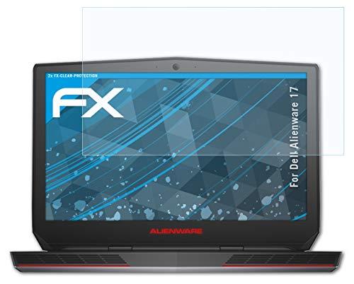atFolix Schutzfolie kompatibel mit Dell Alienware 17 Folie, ultraklare FX Bildschirmschutzfolie (2X)