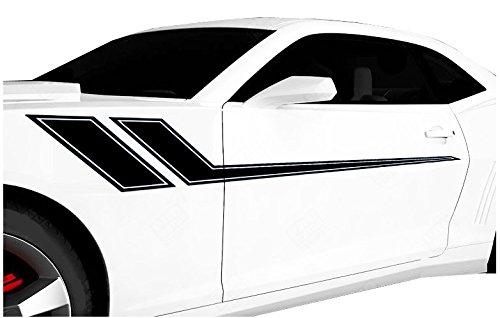 FGD Universal Racing Pin Stripe Decal Set 68'x8.5' You Pick The Color (Black)