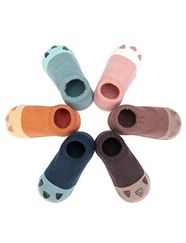 Adorel Adorel Baby Socken Anti-Rutsch Kinder Stoppersocken 6er-Pack Krallen von Katzen 19-21 EU (Herstellergröße S)