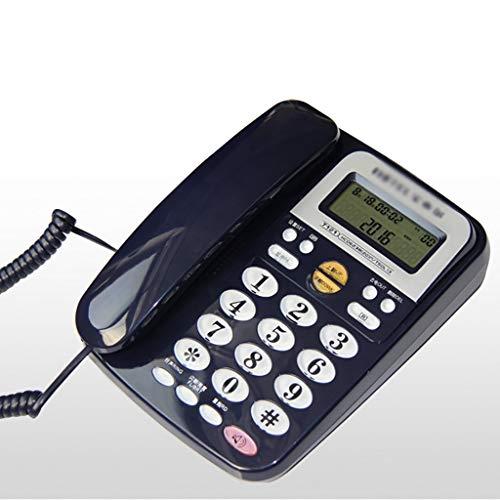 Teléfono Teléfono con cable con altavoz, pantalla, botón grande Teléfono con cable Escritorio / montado en la pared / con contestador automático Teléfono para la cocina del hogar Oficina del hotel co