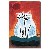 猫の足あと ポストカード 「ふたり」