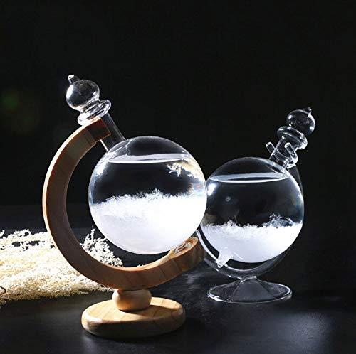 Nanping Decoración hogareña Botella de Vidrio Globo meteorológico Forma de la Botella de Vidrio pronóstico barómetro pronosticador Oficina en casa Decoracion Regalo de cumpleaños (Color : Glass Base)