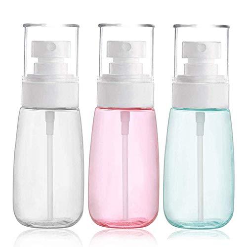 Zerstäuber Sprühflasche Parfümzerstäuber Sprayflasche Pumpflasche leer feinnebel nachfüllbar Tragbares Reiseflaschen Set 3x60ml für Make-up Wasser für Hautpflege Parfums Aromatherapie usw