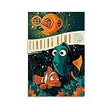 jiaobaba Poster auf Leinwand, Motiv: Findet Nemo Mondo, 30