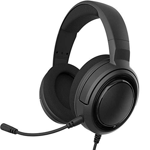 Stereo Gaming Headset, Afneembare Unidirectionele Microfoon, Lichtgewicht Bouw Met PC, Voor Xbox One, PS4 en Mobiele Compatibiliteit, Zwart.
