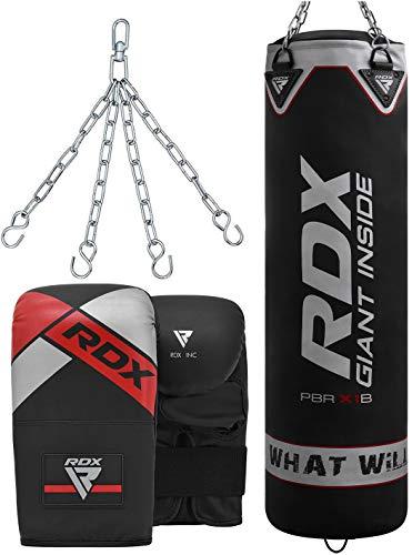 RDX Boxsack Set Gefüllt Kickboxen MMA Muay Thai Boxen mit Stahlkette Training Handschuhe Kampfsport Schwer Punchingsack Abbildung 2