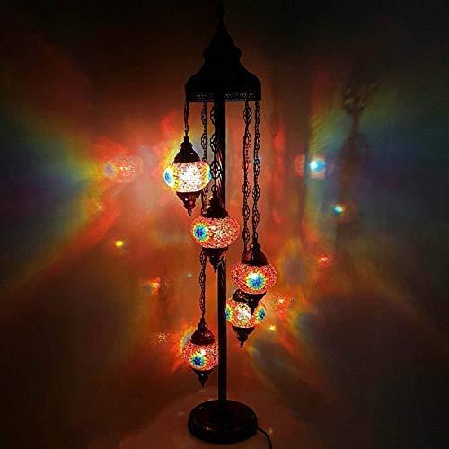 Handgefertigt Turkish Marokkanische Arabisch Östliche Bohemian Tiffany Stil Glasmosaik Bunt Stehlampe Lampe Wohndeko