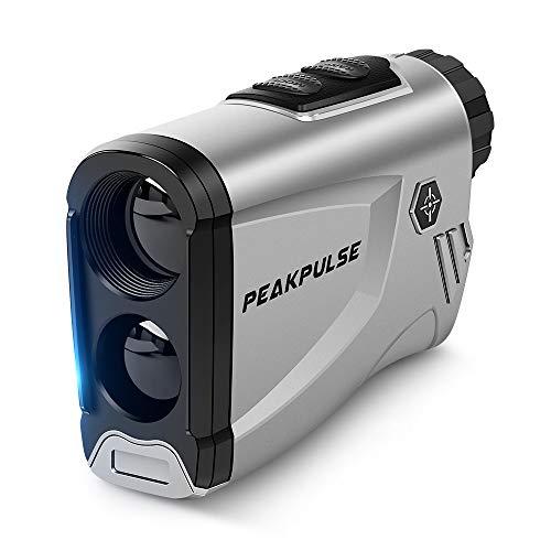 【公式】PEAKPULSE ゴルフ用 レーザー距離計 ゴルフ 距離測定器 ゴルフスコープ ゴルフレーザー 光学6倍望遠 IPX5防水 連続測定 スロープ補正 旗竿ロック コンパクト 収納ケース付き 携帯に便利 プレゼント