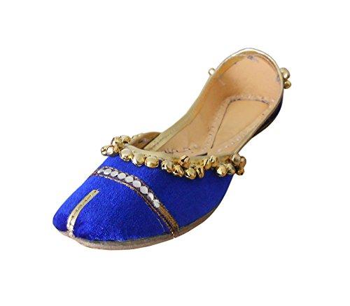 Kalra Creaciones de la Mujer Tradicional Indio Terciopelo Zapatos de Novio, Color...