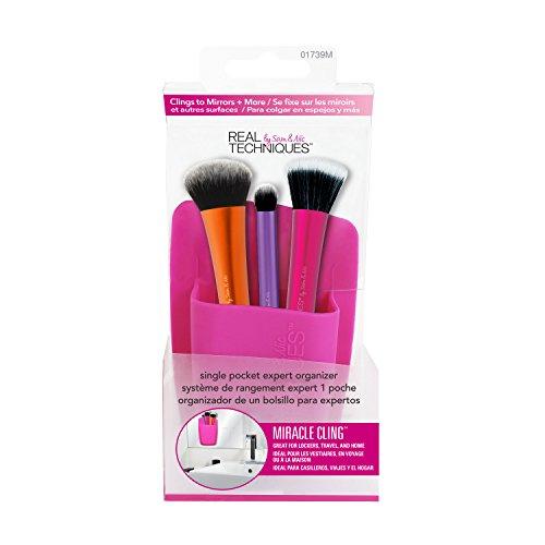 Real Technieken Stick en Bewaar Enkele Pocket Roze Make-up Brush Houder Organisator