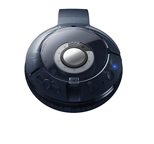 TCL MTRO200BT Wireless On-Ear Kopfhörer mit Mikrofon (Bluetooth 4.2, geräuschisolierend, faltbar, Leder-Ohrpolster, integrierte Fernbedienung und Mikrofon, 20 Stunden Spielzeit), Slate Blue