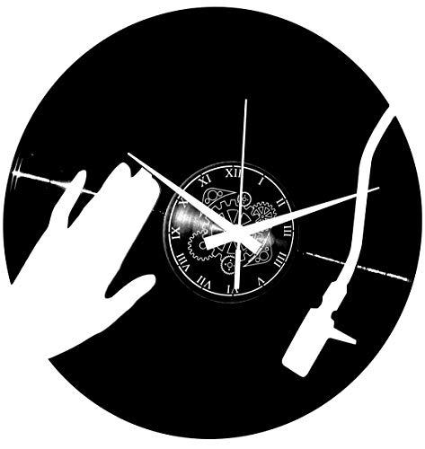 Instant Karma Clocks - Reloj de Pared de Vinilo LP 33 RPM, música, Disco Deejay Plano, Vintage, Hecho a Mano