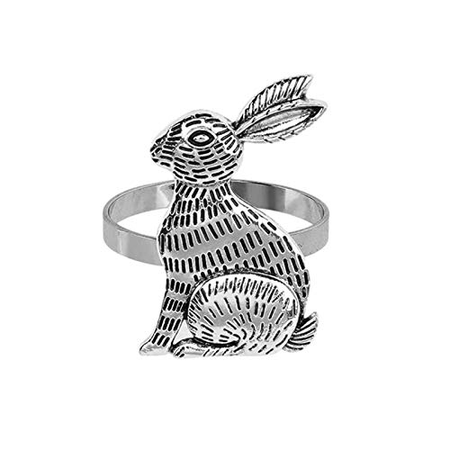 chora Easter Bunny Napkin Ring Rabbit Napkin Ring Holders Table Decorations For Spring Easter Party lovely