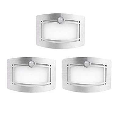 Motion Sensing Closet Lights, OxyLED Wall Light, Luxury Aluminum Stick-on Anywhere Wall Lamp Scones, Indoor Security Light for Stair/Kitchen/Bathroom/Laundry Room/Hallway (3 Pack, Battery Operated)