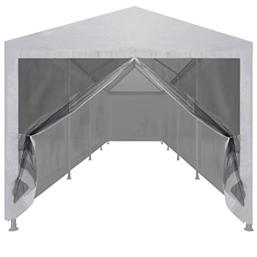 Garden Gazebo with 10 Mesh Sidewalls, Outdoor Waterproof UV-Resistant Beach Party Festival Camping Tent Canopy Wedding Marquee Awning Shade 12 x 3 x 2.55 m