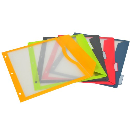 C-Line 5-Tab Binder Pockets with...