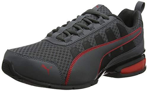 PUMA Unisex-Erwachsene Leader Vt Mesh Sneaker, Grau (Asphalt-High Risk Red 1), 44.5 EU (10 UK)