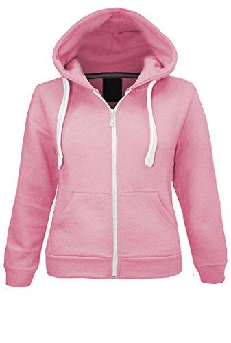 Parsa Fashions ® dla dzieci unisex zwykły polar bluza z kapturem dziewczęta chłopcy bluza z kapturem zamek błyskawiczny lata 1 rok do 13 lat