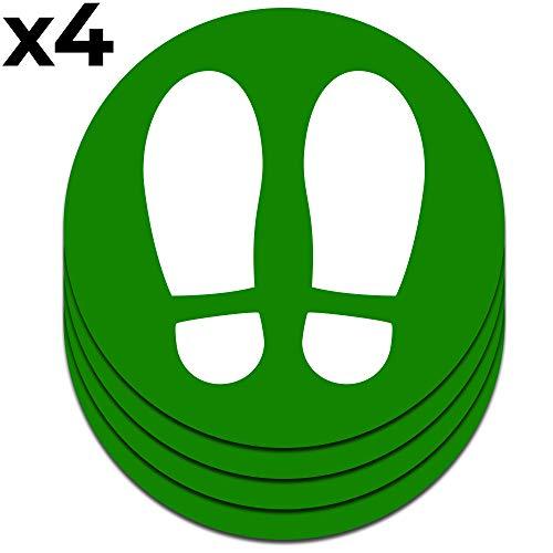 Señal adhesiva huella para suelo. | Separadores para colas