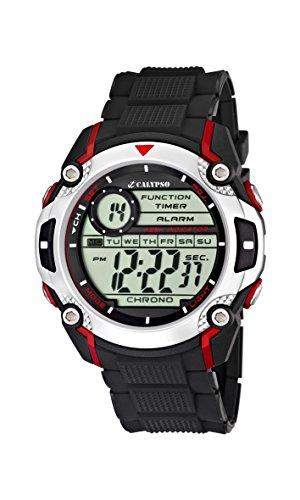 Calypso K5577 - Reloj de pulsera para hombres , digital, cuarzo , correa de caucho, color negro