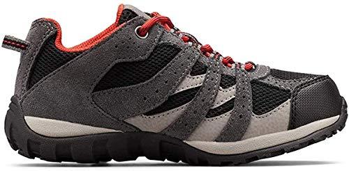 Columbia Unisex-Kid's Childrens Redmond Waterproof Hiking Shoe, Black/Flame, 13 Regular US Little Kid