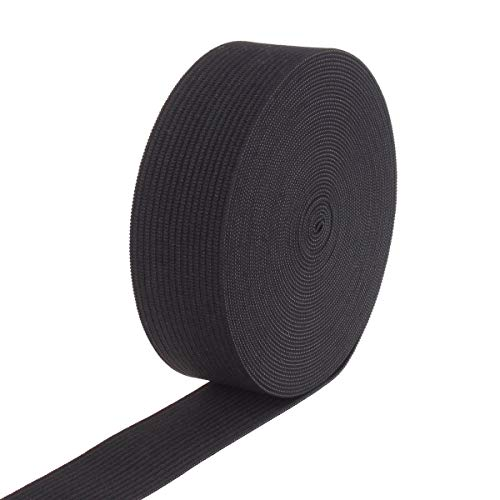1-inch By 10 Yards Black Knit Heavy Stretch High Elasticity Elastic Band