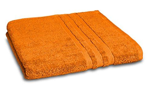 sleepling Toalla de Playa para Sauna, 90 x 200 cm, 100% algodón (550 gr/mxb2), Color Terracota