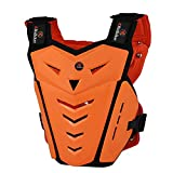 RIDBIKER Motorcycle Armor Vest Motorcycle Riding Chest Armor Back Protector Armor Motocross Off-Road Racing Vest, Orange