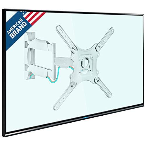 """ONKRON TV Wandhalterung 32\""""-55\"""" Zoll für die meisten TVs VESA 100x100-400x400 mm schwenkbar neigbar M4 Weiß"""