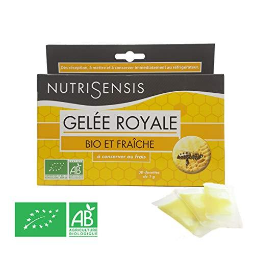 Nutrisensis | Gelée Royale Bio et Fraîche 100 % Naturelle 30g | Dosettes de 1gr – Récoltée en plein cœur d'une réserve naturelle