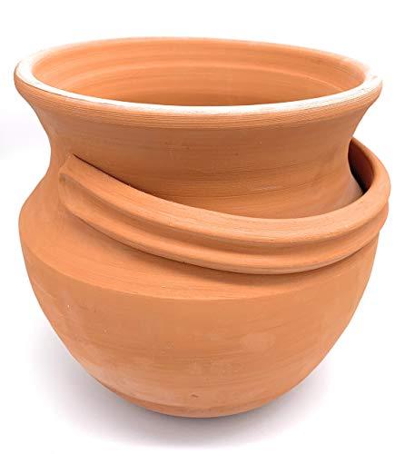 Zon Taarten Outdoor Plant Pot Keramische Terracotta Planter 'Honing Pot' Hoogte 21cm