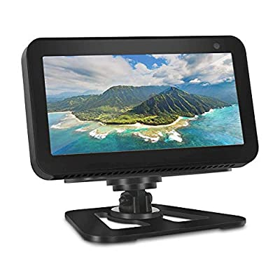 OUSMIN Echo Show 8 Stand, Adjustable Stand for Echo Show 8 with 360°Swivel, Anti-Slip Bottom, Tilt Function, Aluminum Metal Mount Holder Compatible with Echo Show 8 by OUSMIN