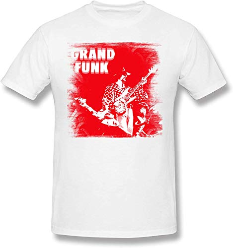 Man Logo of Grand Funk Railroad Cotton T Shirt,3X-Large