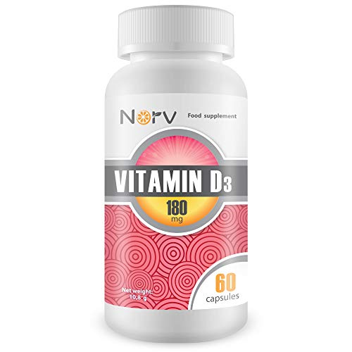 Vitamin D3 180 mg | 1000 IU 60 Softgel Capsules with Sunflower Seed Oils | Best Supplements for a Healthy Immune System Made in The UK