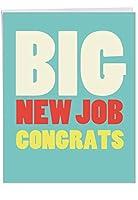 Big新しいジョブCongratsおめでとうございます面白いGreeting Card 1 Jumbo Congratulations Card & Enve. (J2735CGG)