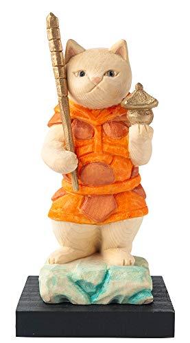 猫buddha 猫福神 毘沙門天さま 仏屋さかい原型監修_七福神 イSム 仏像ワールド(NB7びしゃもんてん