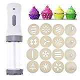 Electric Cookie Press.Cookie Maker Kit Electric Cookie Decorating Tool With.DIY Cookie Maker and Cake Decoration (White)